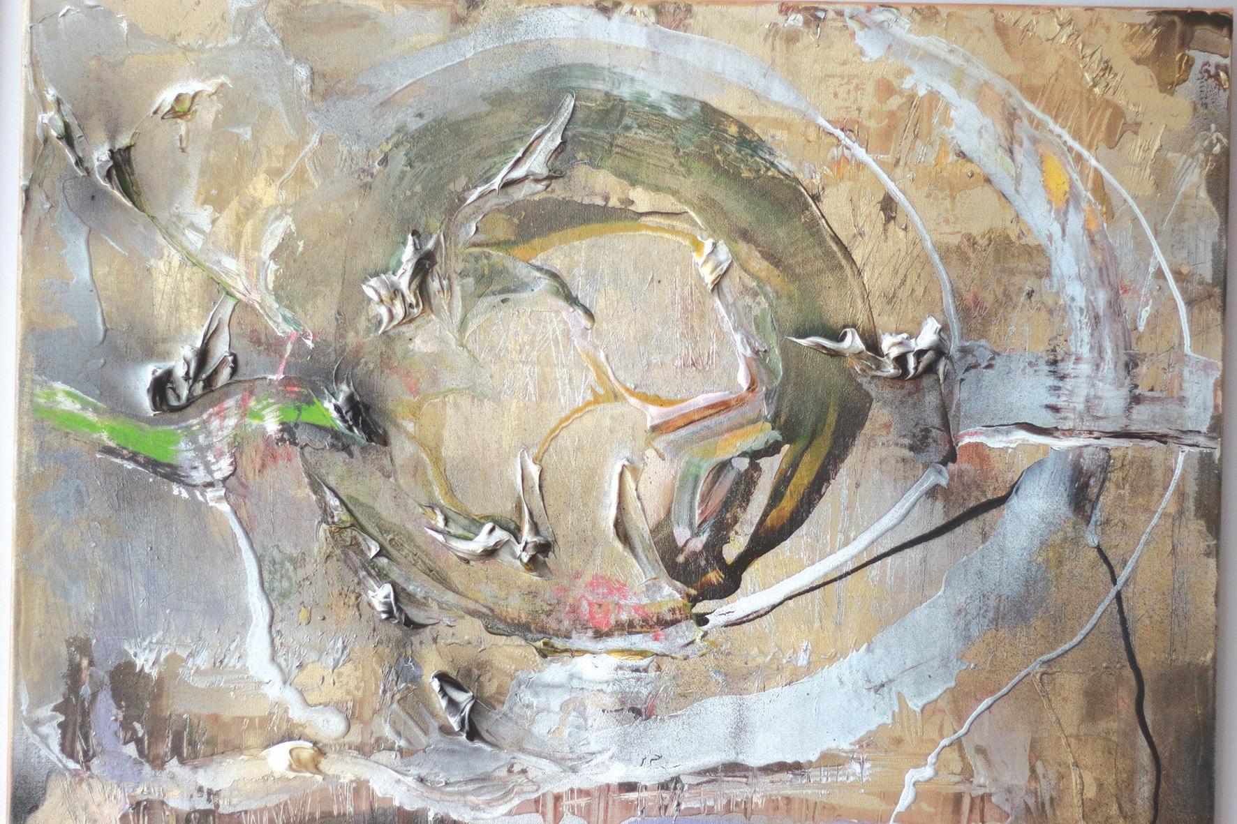 """Tapytojos kūrybinio dėmesio centre – abstrakcijos. """"Į kiekvieną kūrinį įdedu savo jausmų, vidinio pasaulio. Neįsivaizduoju, kaip galima nutapyti paveikslą ir neįdėti dalelės savęs... Man tai nesuprantama"""", – sako Natalja Donskaja./Aldo Surkevičiaus nuotr."""