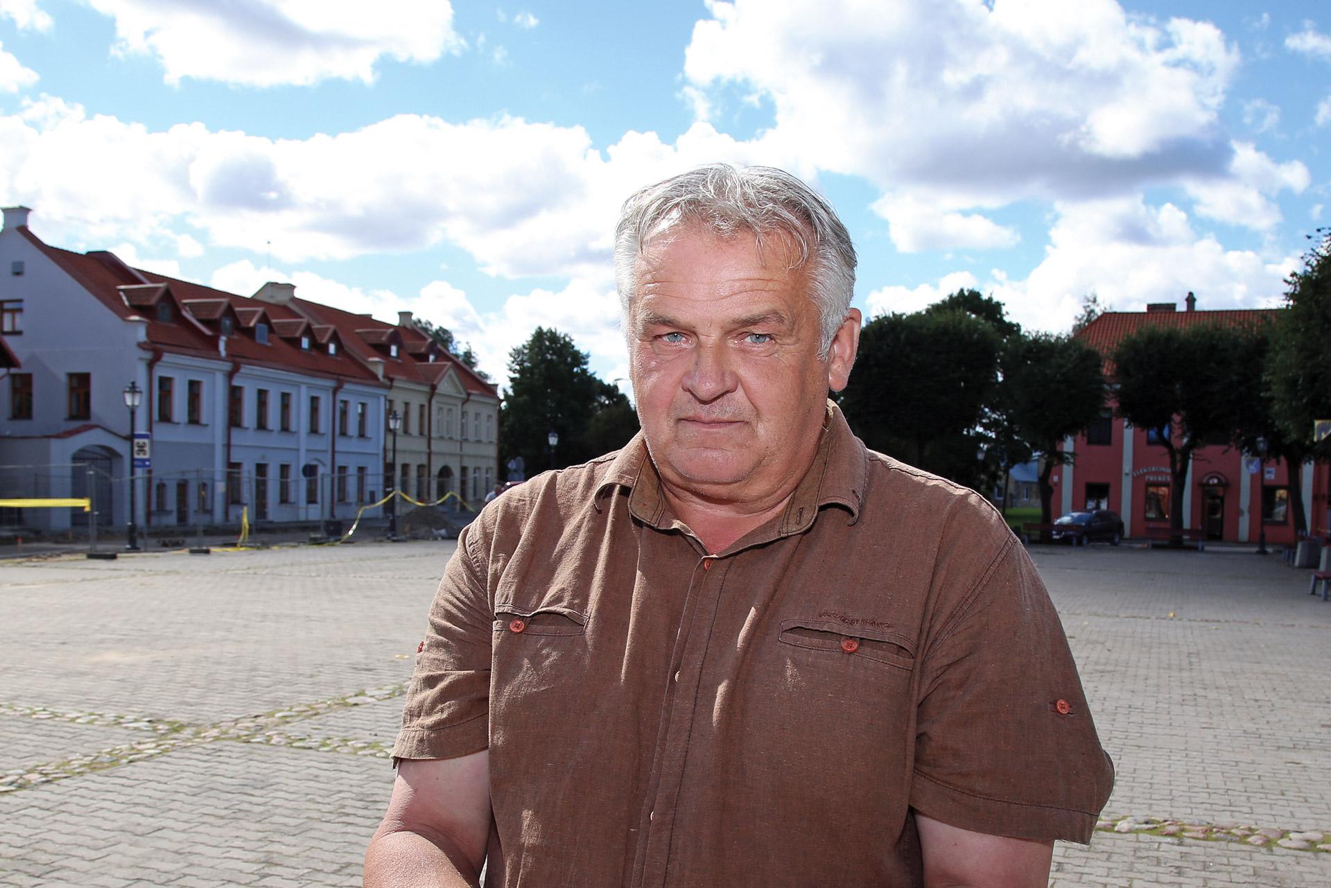 Kėdainių krašto muziejaus archeologas Algirdas Juknevičius./ Giedrės Minelgaitės nuotr.