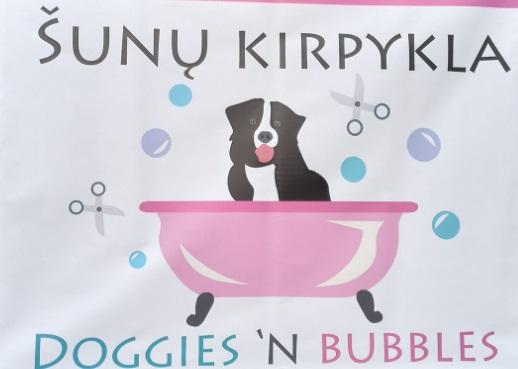 Visiškai naujos šunų kirpyklos savininkė sakė, kad angliškai skamba gražiau, nei skambėtų lietuviškai, tad galvoti lietuviško pavadinimo neketina, o šį anglišką su piešinuku registruos kaip prekės ženklą.