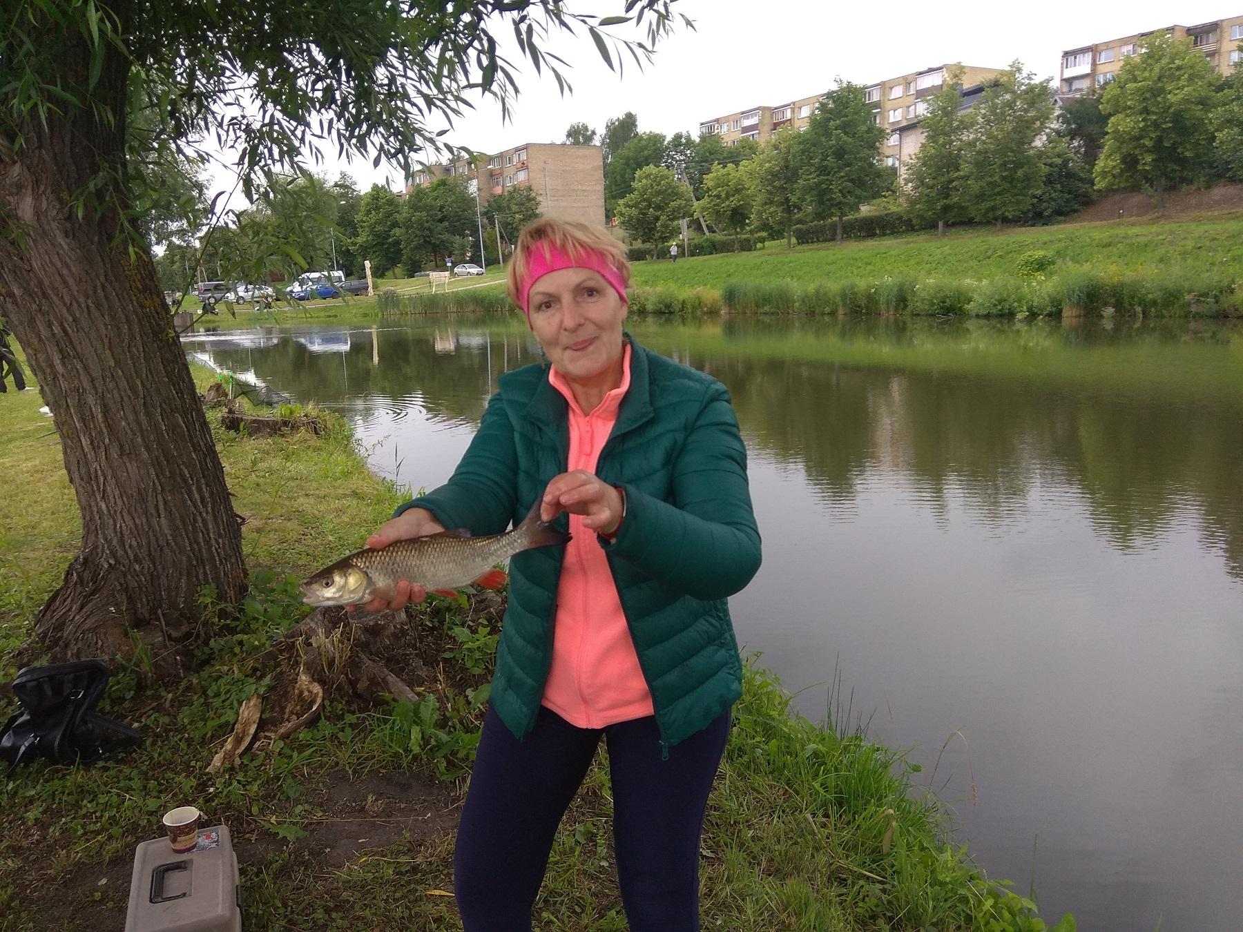 2.Iš Kauno į Kėdainius atvykusi žvejė Kristina Rimkienė sakė, kad mūsų miestas jai paliko didelį įspūdį. Moteriai vieną šapalą gražuolį pavyko ištraukti.