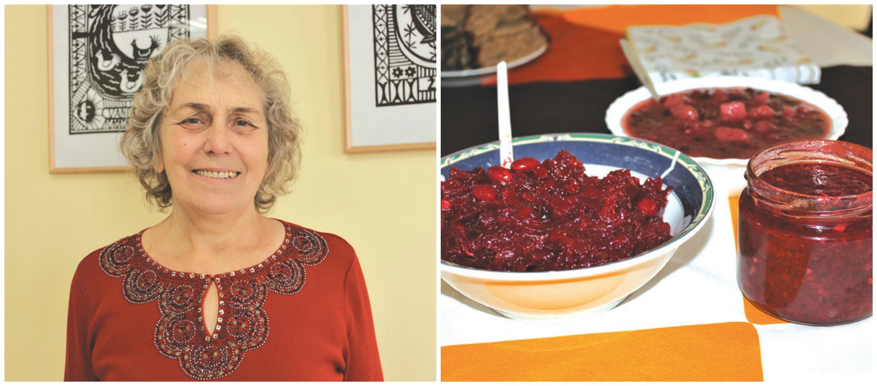 Nijolė Ribelienė – visų Pajieslyje organizuotų Šeimininkių sambūrių dalyvė, šį kartą su savimi atsinešė konservuotų gaminių./Džestinos Borodinaitės nuotr.