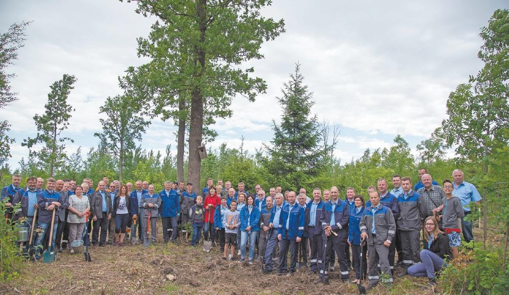 """Štai toks gausus būrys """"Lifosos"""" bendruomenės Pasaulinę aplinkos apsaugos dieną Tūkstantmečio ąžuolyne Pašiliuose sodino ąžuoliukus."""