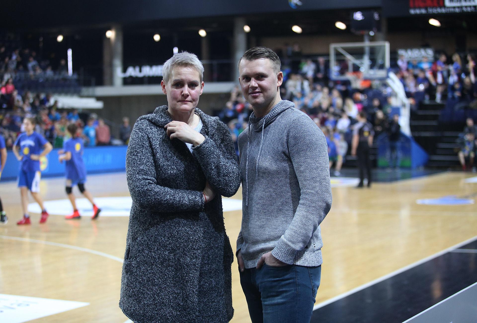 Kėdainių sporto centro krepšinio treneriai Gerda Čečkauskienė ir Vaidas Simonavičius./ A. Barzdžiaus nuotr.