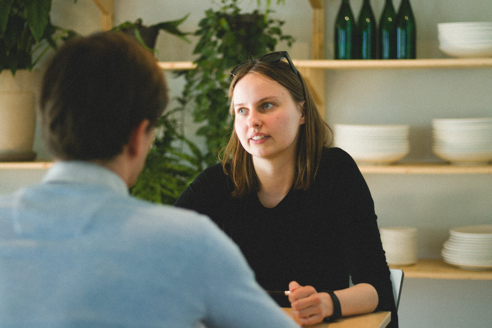 Nors, dalyvavusi mentorystės programoje, Agnė vis dar nesijaučia labai drąsiai kino profesionalų susitikimuose, bet, pasak jos, gavo daug grįžtamojo ryšio, žino, kad eina teisinga linkme. Brigitos Beniušytės nuotr.