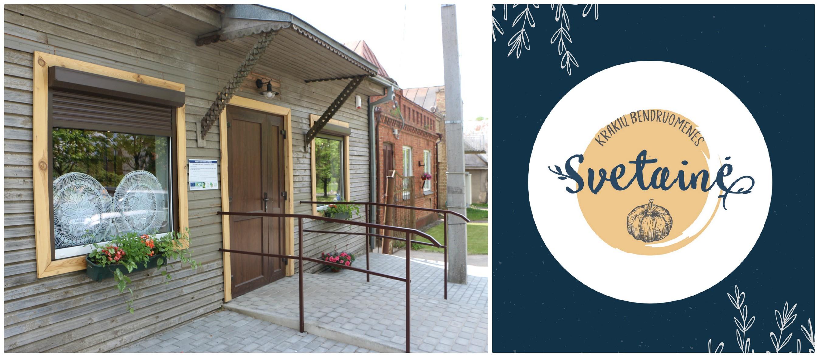 Krakių miestelio širdyje esančiame šimtamečiame pastate birželio 17-ąją duris atvers unikali erdvė – bendruomenės įkurta svetainė. Akvilės Kupčinskaitės nuotr.