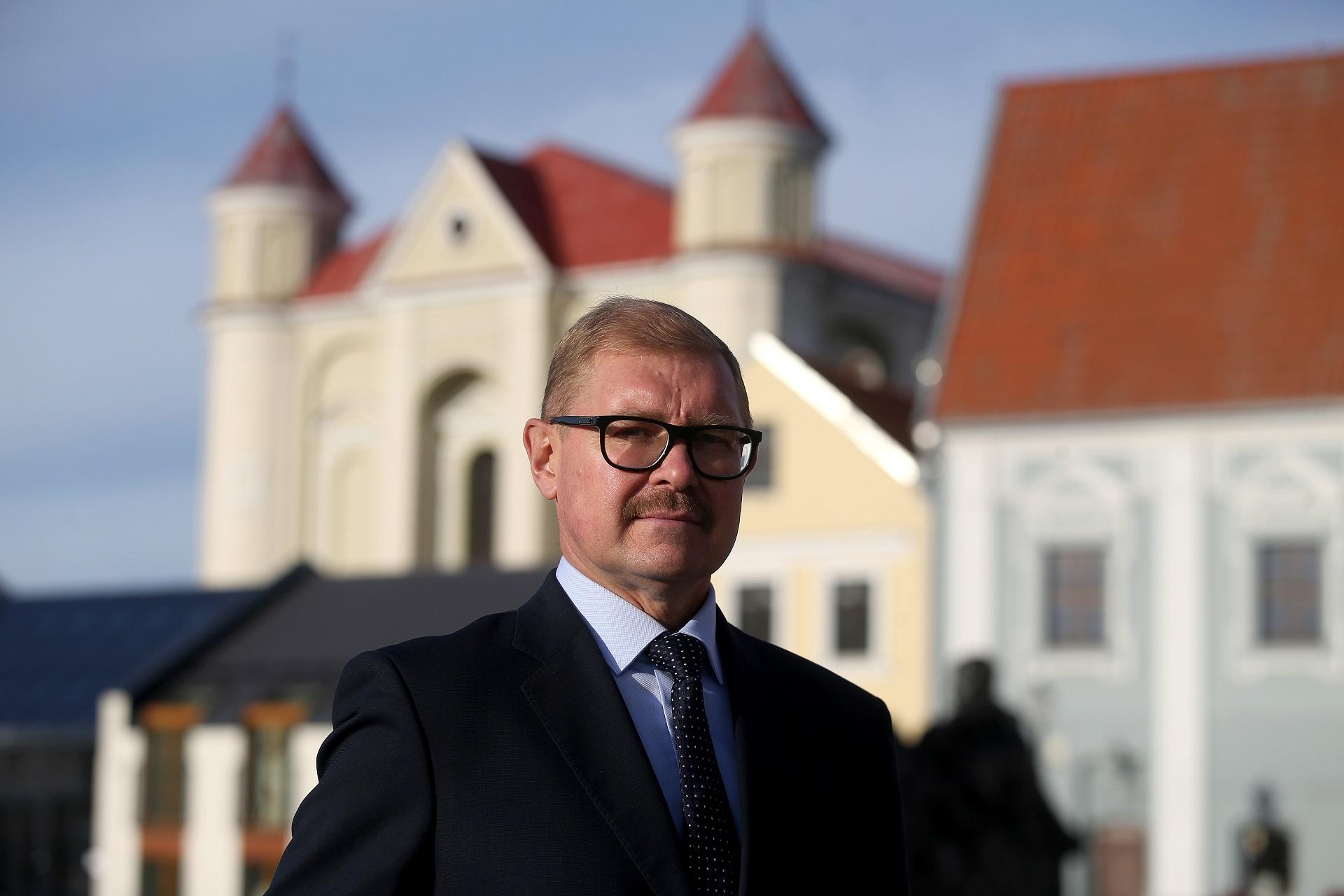 """Arūnas Kacevičius pažymėjo, kad savivaldybė skiria didžiulį dėmesį viešųjų miesto erdvių atnaujinimui. Algimanto Barzdžiaus """"Rinkos aikštės"""" archyvo nuotr."""