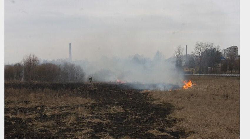 Liepsnoja didžiulis žolės plotas, ugniagesiams padeda ir gyventojai