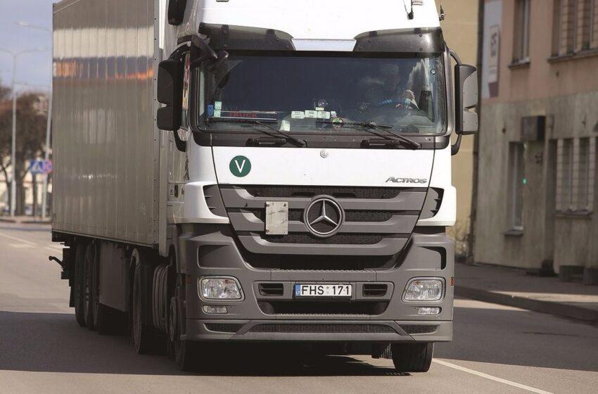 Mieste siūloma uždrausti sunkvežimių eismą