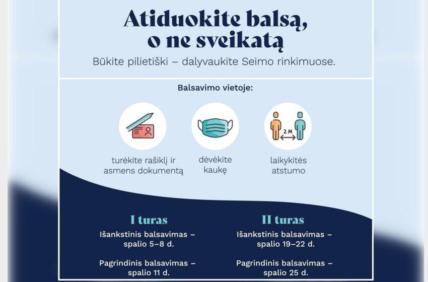 Būkite pilietiški – dalyvaukite Seimo rinkimuose