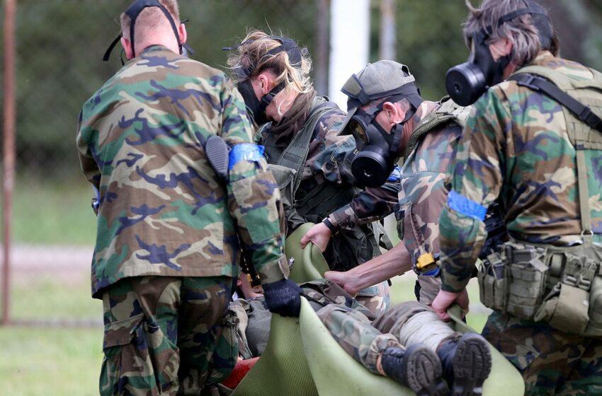 Pratybos Kėdainiuose: susišaudymai, sprogimai, gaisrai ir teroristinis aktas (GALERIJA)