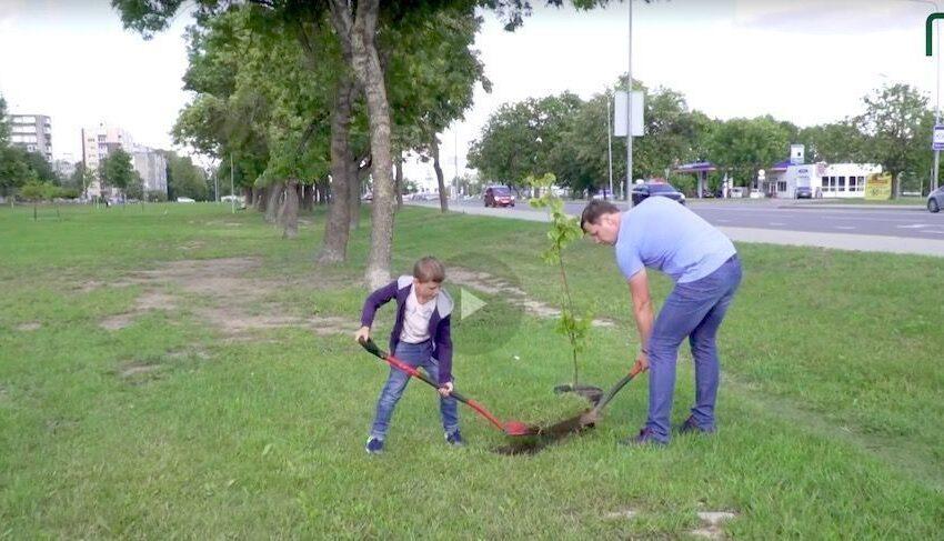 Vytauto parke – medžių sodinimo akcija