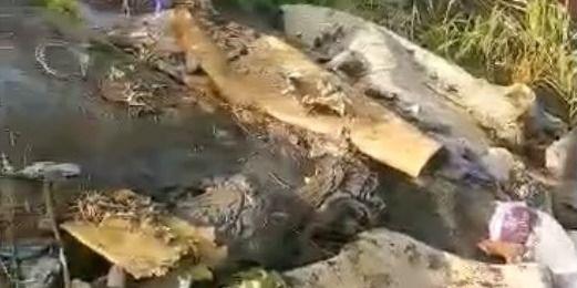 Į Šv. Jono upelį išpiltas kalnas šiukšlių (VIDEO)