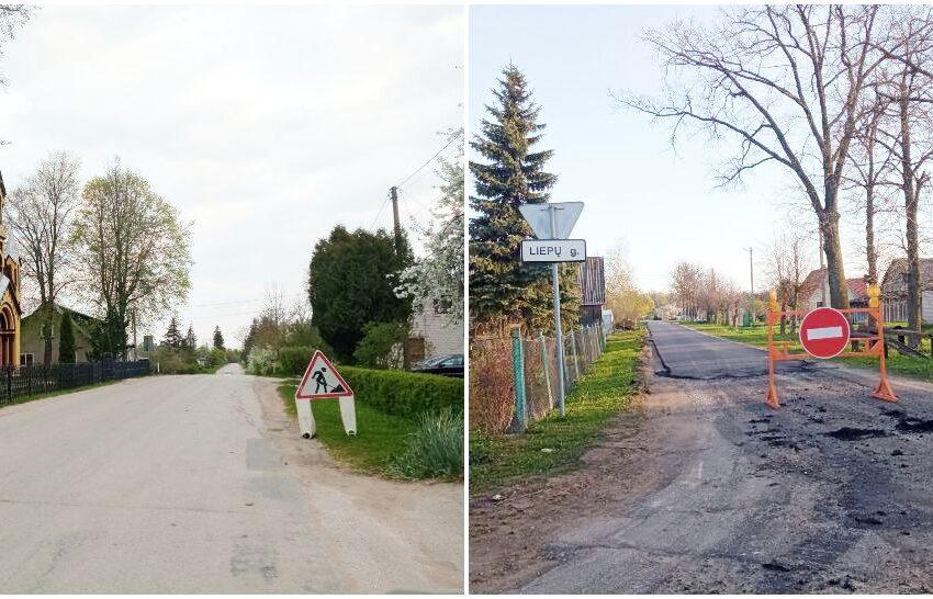 Rajoniniuose keliuose taisomos išdaužos ir duobės