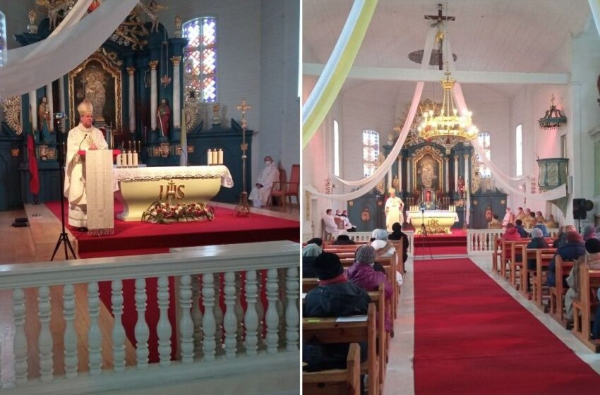 Šv. Juozapo bažnyčioje viešėjo Vyskupas – paskelbė Šeimų metus