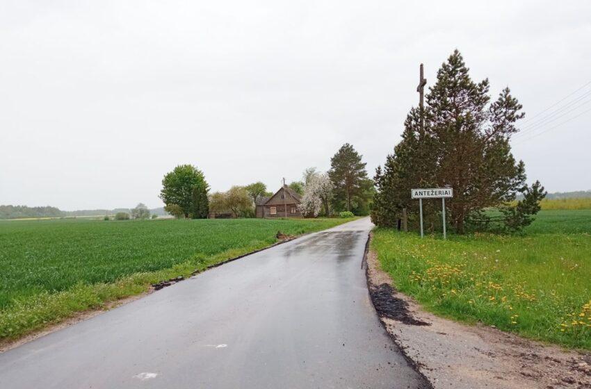 Kaimiškosiose seniūnijose lieja ištisinį asfaltą