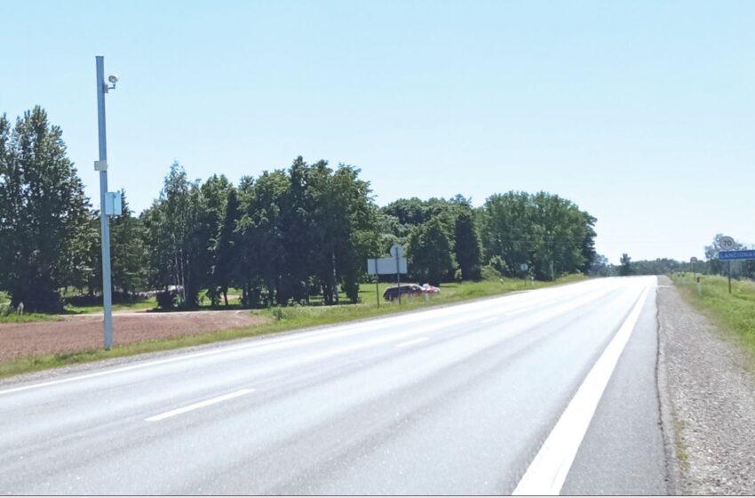 Kelyje Panevėžys–Aristava–Sitkūnai įrengtas vidutinio greičio kontrolės ruožas