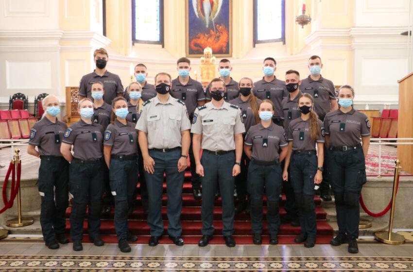 Kėdainių policijos gretas papildė nauja pareigūnė: džiaugiasi prisiekusi Tėvynei