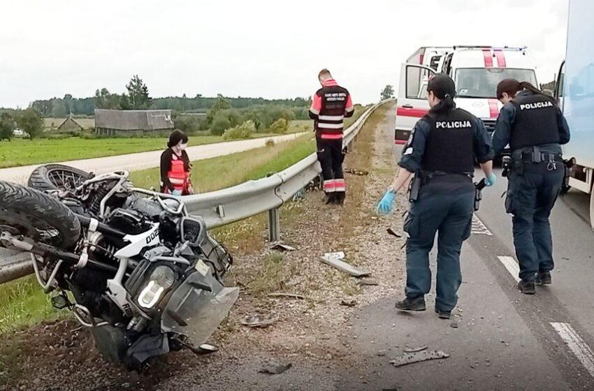 """""""Via Balticoje"""" žuvo motociklininkas"""