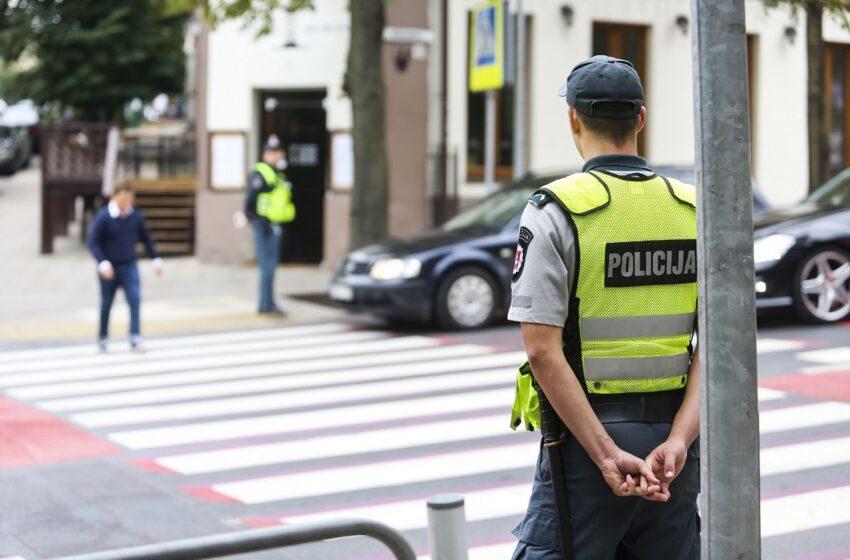 Eismo dalyvių saugumui užtikrinti – didesnis policijos pareigūnų dėmesys