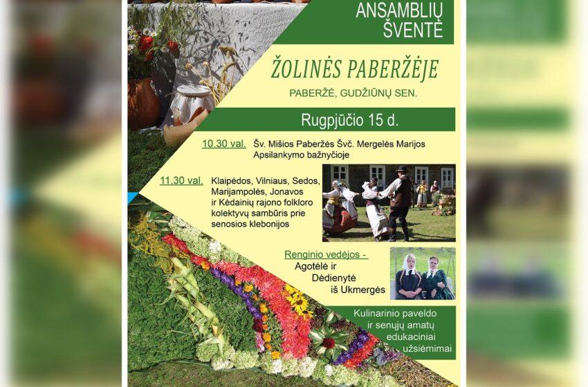 Žolinės šventė Paberžėje