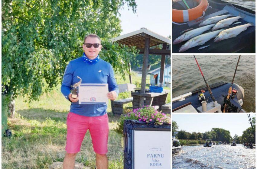 Žvejų varžybose pelnė pirmąją vietą