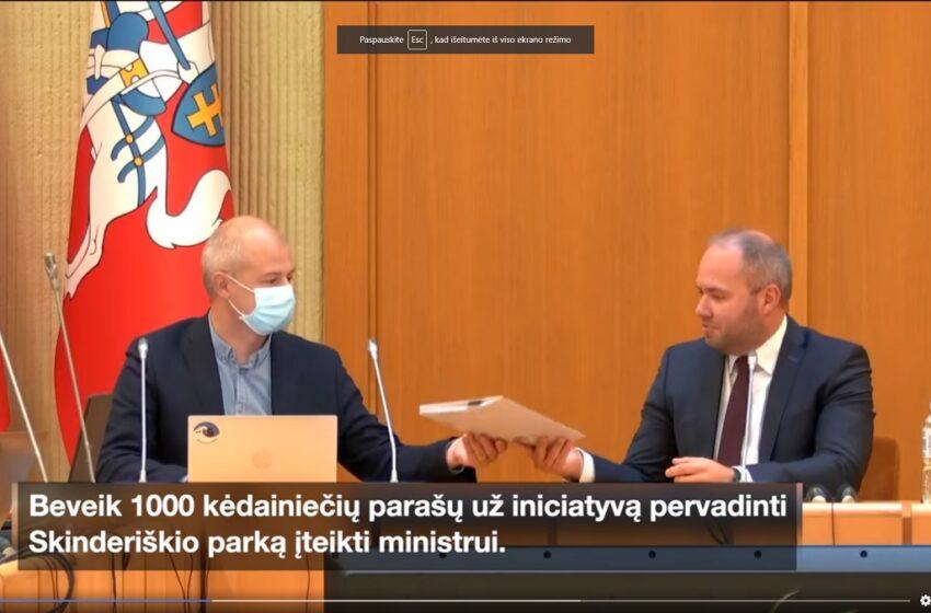 Skinderiškio parką siekia pervadinti Kaltenio vardu (VIDEO)