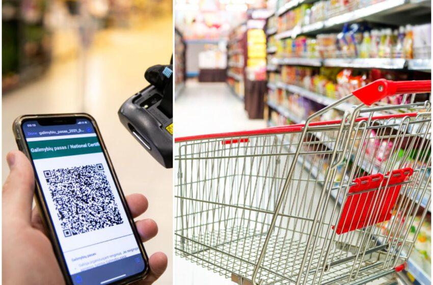 Be galimybių paso aptarnaujančios parduotuvės turės reguliuoti srautus
